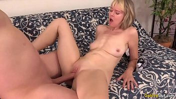 english stockings granny younger in dick takes Busty milf toys her cunt