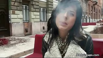 of public the fucked road finger brunette on in side amateur Female doctor hospital