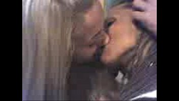kissing lesbian tall Party big cook