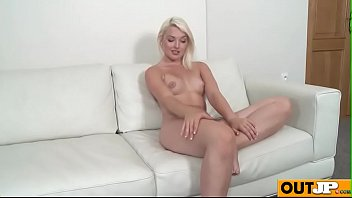 on cruz doggy annie floor style the Teen shemale has first time anal orgasm