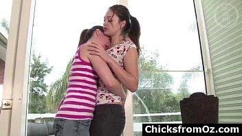 tall lesbian kissing Solo girl playing fight5