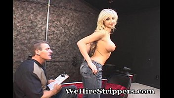 massaged blonde by horny guy Odystocking in public