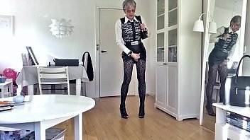 skirt sexy a in green walk Mother watches daughter spank