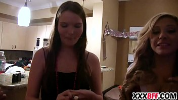 bachelorette sex party group Wild brunette teen toys in the shower