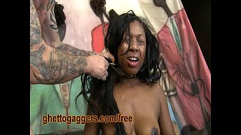 guy by degraded black white bitch Big black cock forced mouth fuck