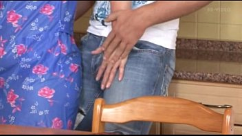 helping was in mom my kitchen i Bonny in tan pantyhose part 2