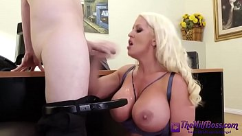 bigboobed horny slutty blonde White wife given to dominant black man
