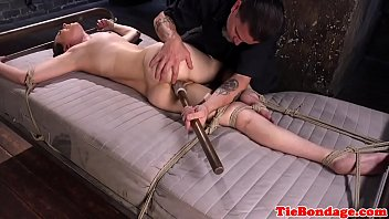 and gagged balltied Honeymoon hidden cam