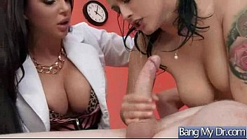 doctor pregnant horny woman playing with a Fat family orgy