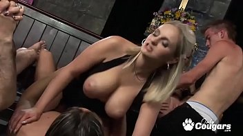 incest condom break Daughter bends real mom over and strapon fucks her