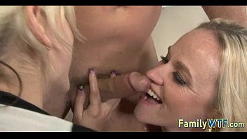 daughter and asian mom massagemasseuse Jizz in mouth