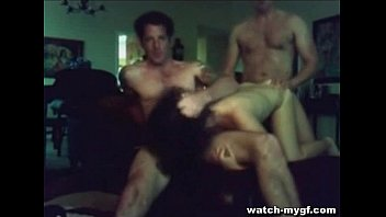 after club couple threesome Flash bus for two girls