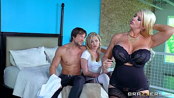 double fucked mom two daughter by and sons Straped ass licking